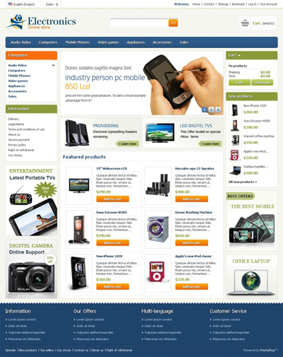Visit Electronics Store Online