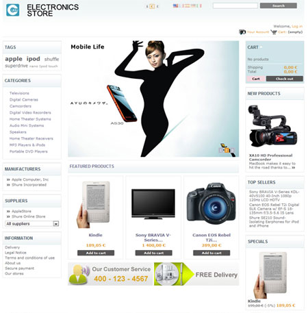 Delightful Electronics Online Store
