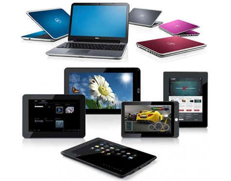 Mix Laptops And Tablets