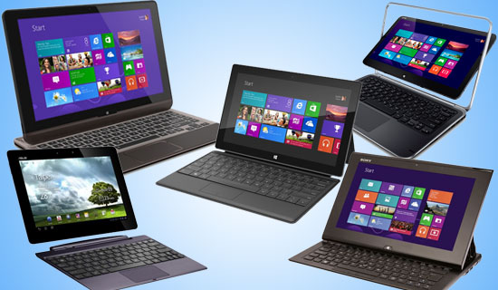Various Laptops Tablets